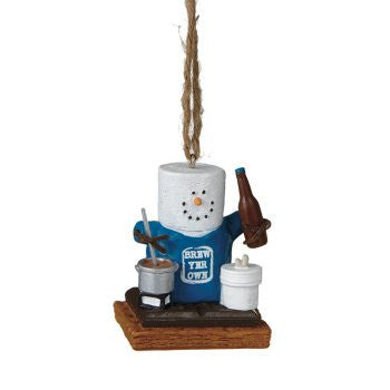 S'mores Brewing Beer Christmas Ornament