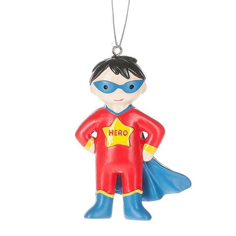 Boy Super Hero Christmas Ornament