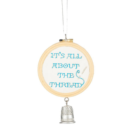 """It's All About the Thread"" Christmas Ornament"
