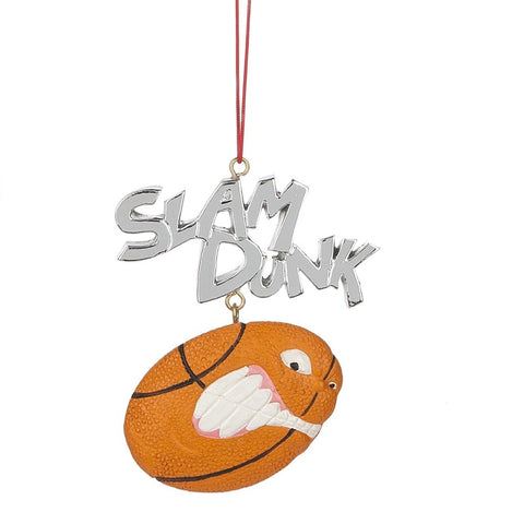 """Slam Dunk"" Basketball Ornament"