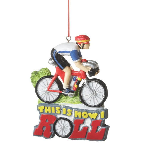 """This is How I Roll"" Biker Ornament"