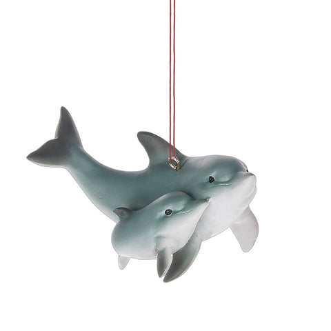 Dolphin with Baby Ornament