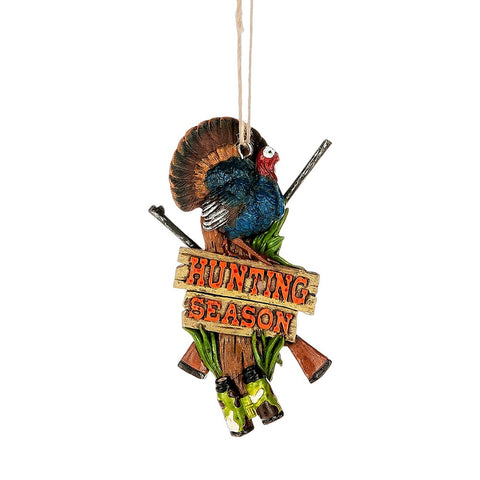 """Hunting Season"" Turkey Ornament"