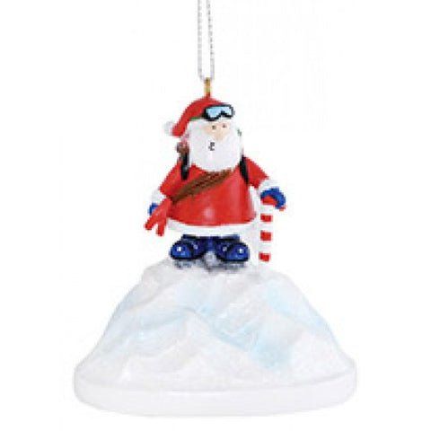 Santa Hiking Denali Christmas Ornament
