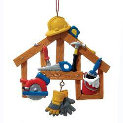 Construction Tools Hanging Christmas Ornament