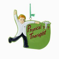 Physical Therapist Christmas Ornament (Male)