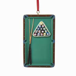 Pool Table Christmas Ornament