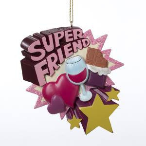 """Super Friend"" Christmas Ornament"