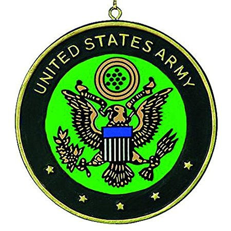 Army Medallion Christmas Ornament