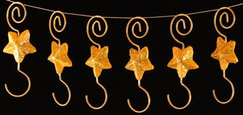 Star Christmas Ornament Hooks (set of 6)