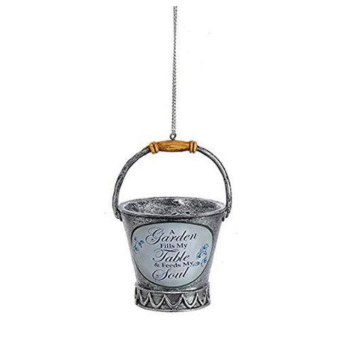Garden Bucket Christmas Ornament