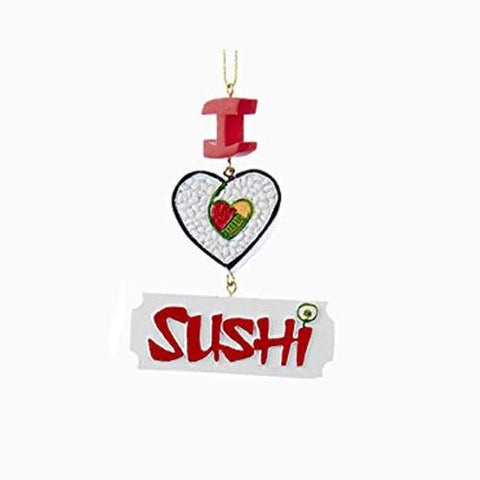 """I Love Sushi"" Christmas Ornament"