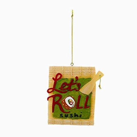 """Let's Roll"" Sushi Christmas Ornament"