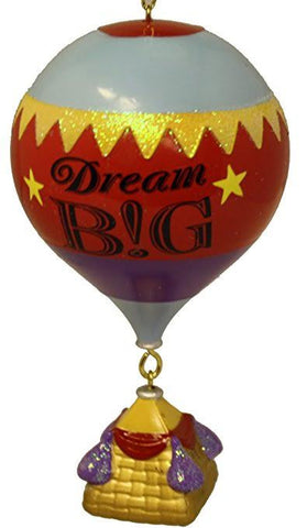 """Dream Big"" Hot Air Balloon Christmas Ornament"