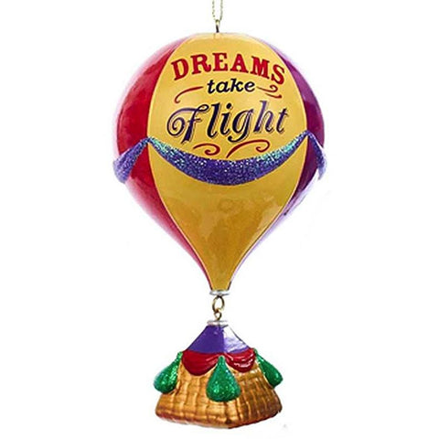 """Dreams Take Flight"" Hot Air Balloon Christmas Ornament"
