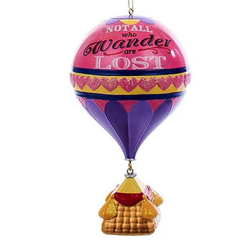 """Not All Who Wander Are Lost"" Hot Air Balloon Christmas Ornament"