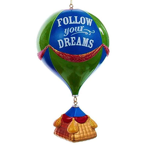 """Follow Your Dreams"" Hot Air Balloon Christmas Ornament"