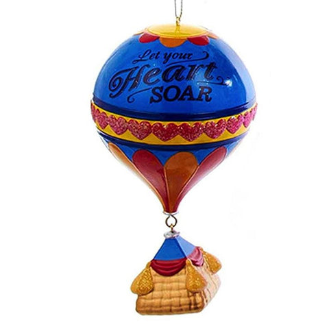 """Let Your Heart Soar"" Hot Air Balloon Christmas Ornament"