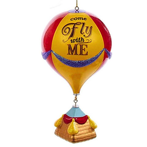 """Come Fly with Me"" Hot Air Baloon Christmas Ornament"