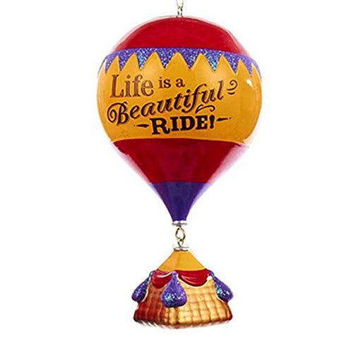 """Life is a Beautiful Ride!"" Hot Air Balloon Christmas Ornament"