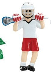 Lacrosse Player Christmas Ornament
