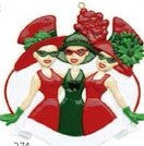 Red Hat Society Christmas Ornament