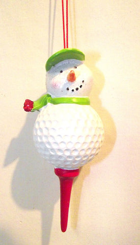 Snowman Golf Tee Ornament