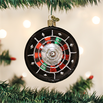 Old World Christmas Roulette Wheel Glass Blown Ornament