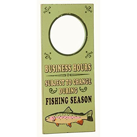 """Business Hours Fish"" Door Hanger"