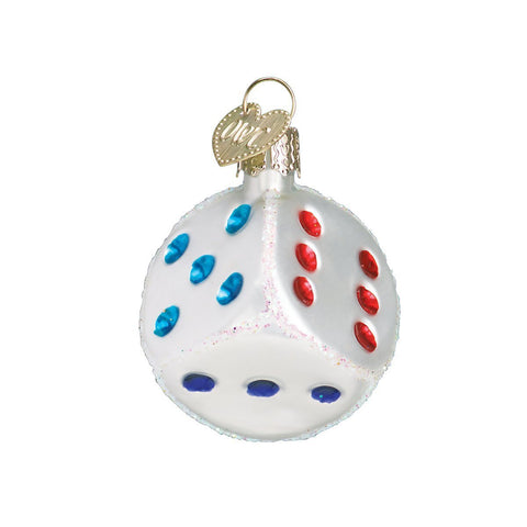 Old World Christmas Dice Glass Blown Ornament