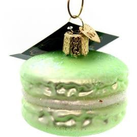 Old World Christmas Macaroon Glass Blown Ornament, Green