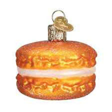 Old World Christmas Macaroon Glass Blown Ornament, Orange