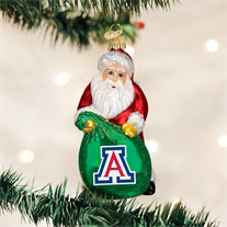 Old World Christmas University of Arizona Santa Christmas Ornament