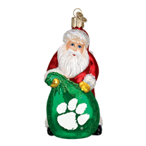 Old World Christmas Clemson University Tigers Santa Ornament