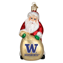 Old World Christmas University of Washington Santa Christmas Ornament