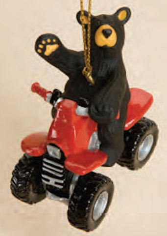 Bear on ATV Christmas Ornament