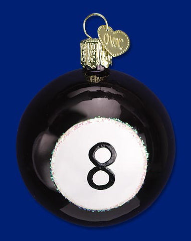 Eight Ball Christmas Ornament