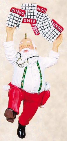 Bingo Santa Christmas Ornament