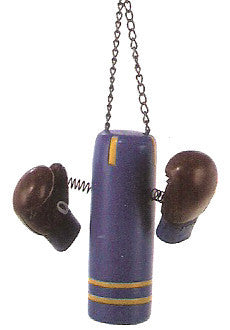 Punching Bag & Boxing Gloves Christmas Ornament