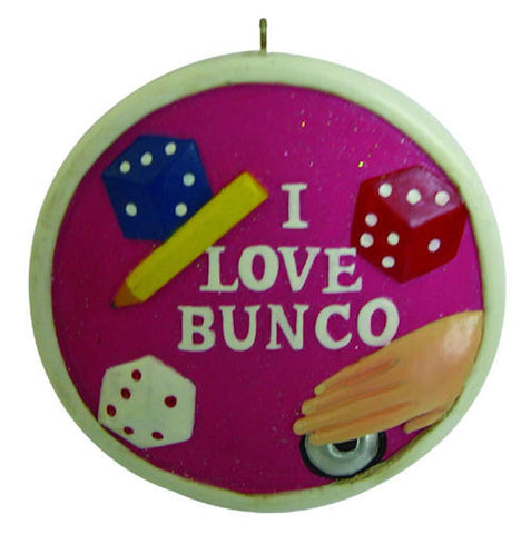 I Love Bunco Christmas Ornament