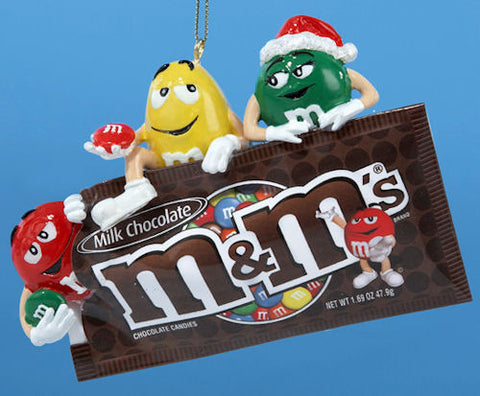 M&M Characters with Bag Christmas Ornament