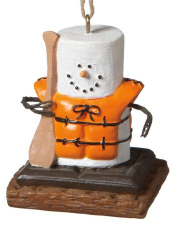 Smores Canoeing Christmas Ornament