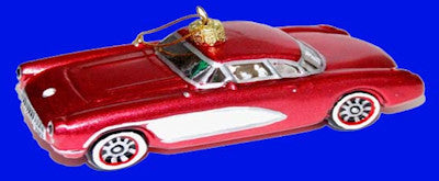 Glass 1957 Corvette Christmas Ornament