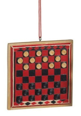 Checker Board Christmas Ornament