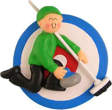 Curling Christmas Ornament