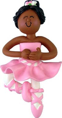 African-American Ballerina Christmas Ornament