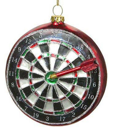Glass Dart Board Christmas Ornament