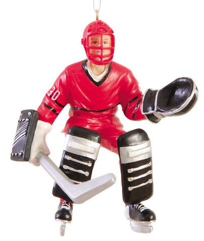 Hockey Goalie Christmas Ornament