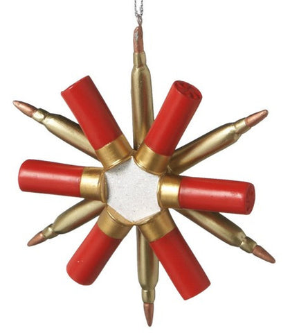 Snowflake Shotgun Shell Christmas Ornament