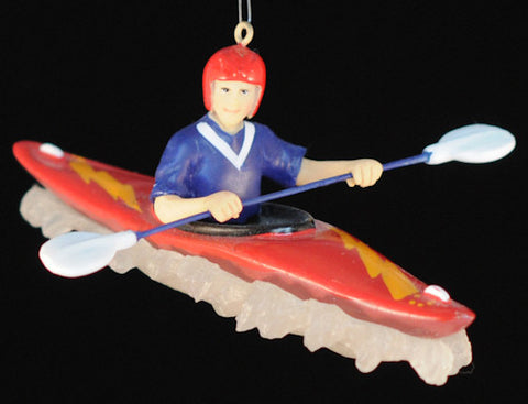 Whitewater Kayaker Christmas Ornament